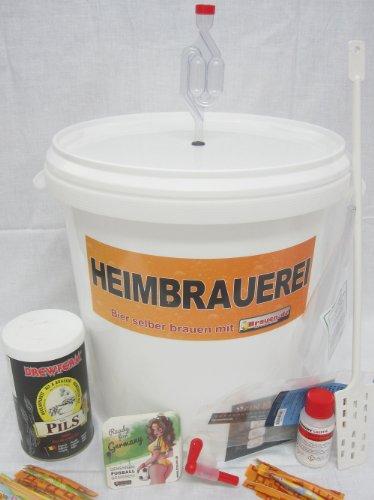 Set per fabbricare birra Pils–(pils soli 12–20litri)–Kit per fabbricare ideale per principianti o come regalo birra, con istruzioni Brau