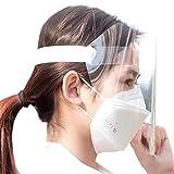 [SCGEHA] フェイスシールド フェイスガード 保護シールド プラスチック製 フェイスカバー 10枚セット
