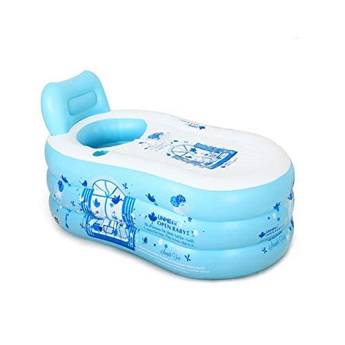 Relaxbx Eenvoudig Opblaasbaar Badkuip Verdikking Volwassen Badkuip Vouwkuip Kunststof Badkuip Bule (Maat: L)