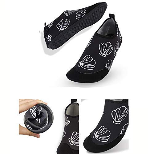 CSLOKTY Hommes Femmes Chaussures Eau De Rapides Chaussettes Aqua Barefoot Dry pour La Plage Piscine Adults-XXXXL