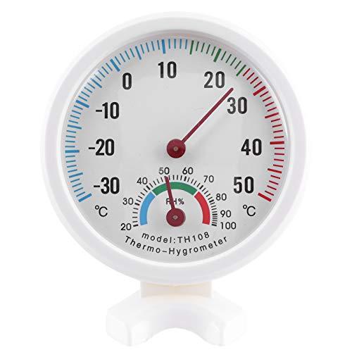 4 stuks Klein in formaat Wijzerplaat Thermometer Hygrometer Temperatuur-vochtigheidsmeter Temperatuurinductiemeter voor Tuinen Terrassen Badkamers Keukens