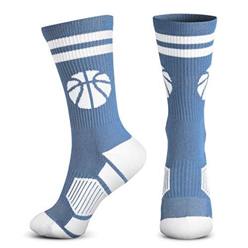 Basketball-Socken, gewebt, mittelhoch, klassischer Basketball, mehrere Farben - - Einheitsgröße
