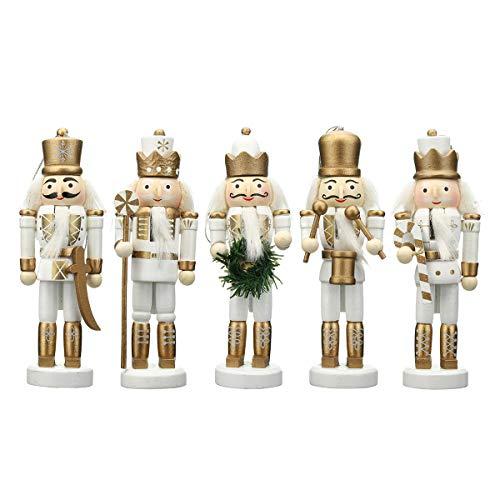 DyNamic 5St Houten Notenkraker Soldaat Handwerk Marionet Pop Speelgoed Ornament Kerstcadeau Thuis Kamer Decoraties