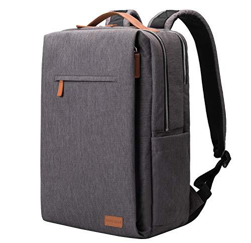 Backpack Men's Laptop Business Durable Bag Work Leisure Waterproof Travel Men and Women School Students Women City Computer Bag USB, grey (Grey) - F003