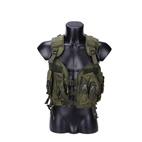 LY-01 Gilet Tactique Veste de Combat, vêtements de Protection de Champ CS de Fan de l'armée de Sac d'eau de Camouflage extérieur Multifonctionnel (Couleur : 1)