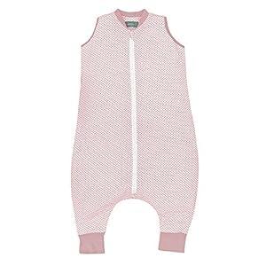 molis&co. Saco de dormir con pies. 1.0 TOG. 2 años. Ideal para primavera y otoño. Vichy Pink. 100% algodón orgánico (GOTS).