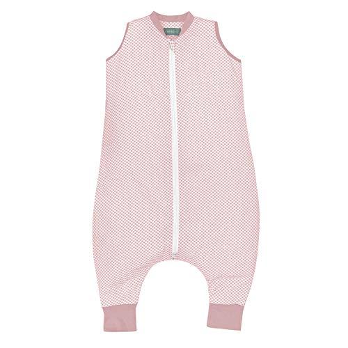 molis&co. Saco de Dormir con pies. 1.0 TOG. 4 años. Ideal para Primavera y otoño. Vichy Pink. 100% algodón orgánico...