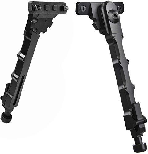 Lejie Táctica Aluminio M-LOK Bípode Montaje Lateral Bipod para Camara Airsoft Alcance Caza