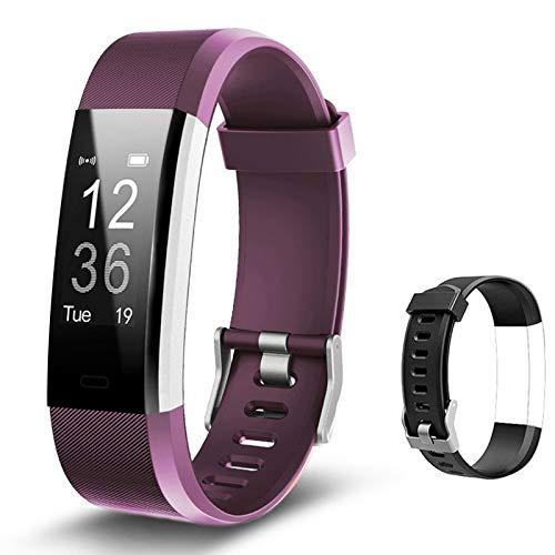 Lintelek Fitness Armband Fitness Tracker Smartwatch wasserdichter IP67 Schrittzähler mit angeschlossenem GPS-Tracker, Schrittzähler mit einem kostenlosen ersetzlichen Armband