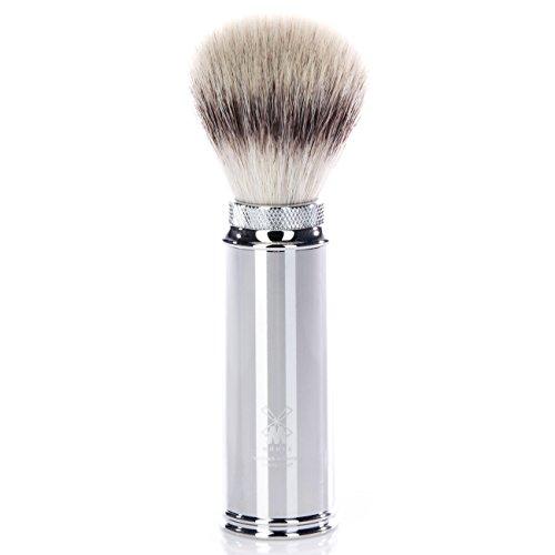MÜHLE Reiserasierpinsel, Silvertip Fibre®, Griff aus Chrom