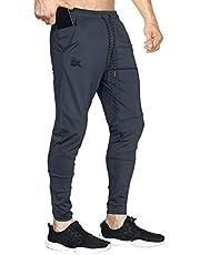 BROKIG Męskie lekkie spodnie dresowe elastyczne spodnie sportowe siłownia bieganie joggery