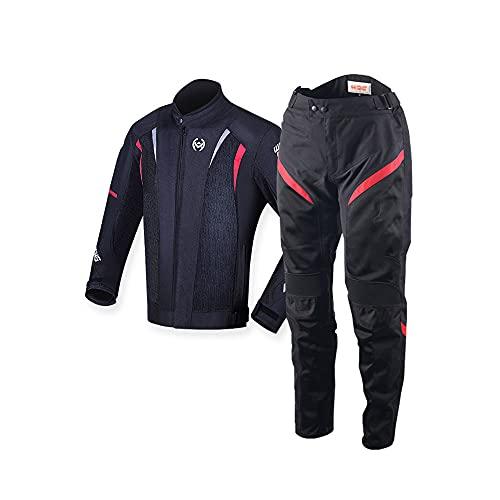 CYzpf Chaqueta de Moto Verano Ropa Ligera y Transpirable Equipo Protección Impermeable Abrigo Informal Motorcycle Jackets Exteriores Accesorios para Hombres Mujeres,Black,L