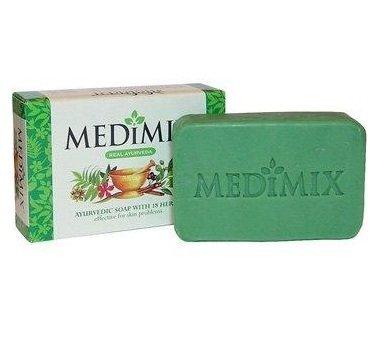 Medimix ayurvedische Seife mit 18Kräutern Pickel ACME Cure Haut Probleme 75gm