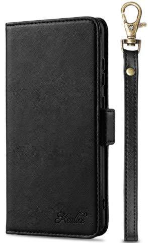 Keallce Xiaomi Mi 11 Case, Wallet Case para Mi 11 PU Leather 4 Cards and Change Slots, Mi 11 Flip Case con Correa de Muñeca y Cierre Magnético Xiaomi Mi 11 Folio Cover 6.81 Pulgadas Negro