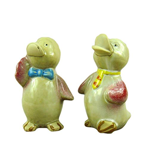LOSAYM Statue Ornaments Sculptures Figurine Animal Statue Ornaments Porcelain Duck Figurine Ceramic Duckling Miniature Art And Craft Embellishment Trinket Accessories For Desktop And Cabinet Decor