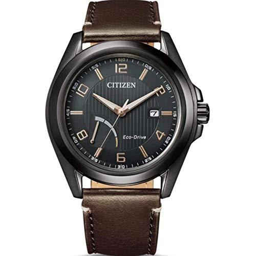 Reloj de Ciudadano slo el Tiempo Reserver Hombre Negro Marcado AW7057-18H