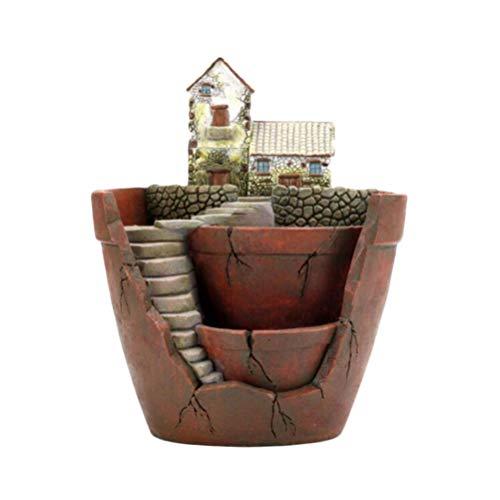 BESPORTBLE Petit Pot Succulent Doux Miniature Maison Planteurs Plantes Créatives Pots de Fleurs Micro Paysage Cactus Vase Décor pour Bureau à Domicile