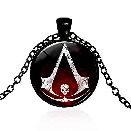 Collar con colgante con logo Assassin's Creed cristal y aleación negro