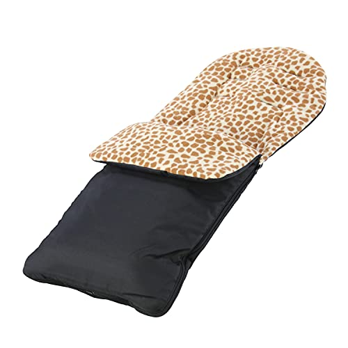 For Your Little One Animal Print Padded Pushchair Footmuff/Cosy Toes Compatible with Joie Versatrax - Giraffe