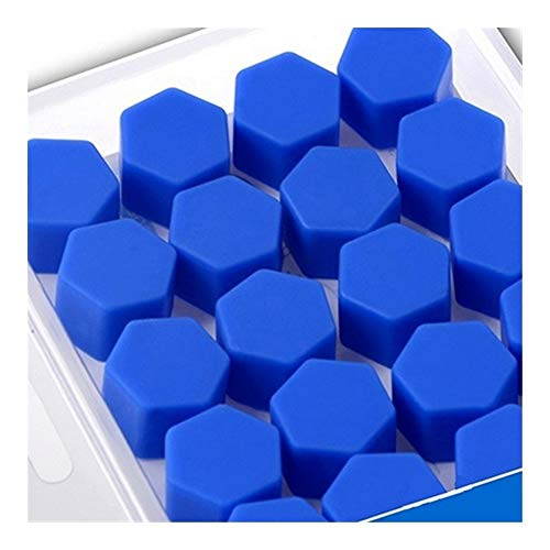 Pilang Zxxin-Wheel Nut, 20pcs / Bag Car Schraubenkappen Radmuttern, 17mm Radmutter Abdeckungen, 19mm 21mm, Silikon-Abdeckungen, Auto-Styling (Color : Blue 17mm)