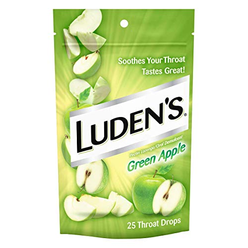 Luden's Cough Drops, Green Apple, 25 Drops