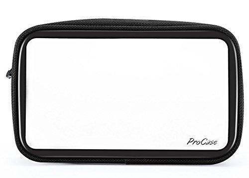 ProCase Toilettas, transparant voor handbagage in het vliegtuig, make-up tas, reistas voor vloeistoffen in koffer, opbergtas voor cosmetica