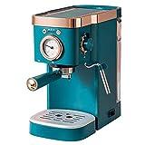 MKXF , Cafetera Programable, Espumador De Leche Semiautomático, Bomba De Presión 20s Café Extraído (Color : Green)