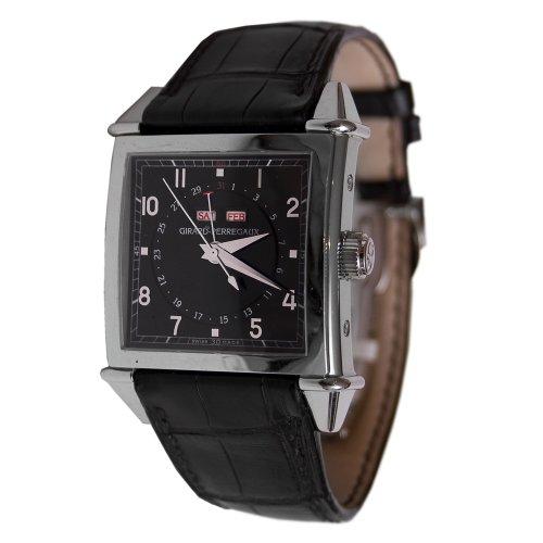Girard Perregaux vintage 194525810–11–651-ba6a da uomo pelle di vitello nera 32mm Watch