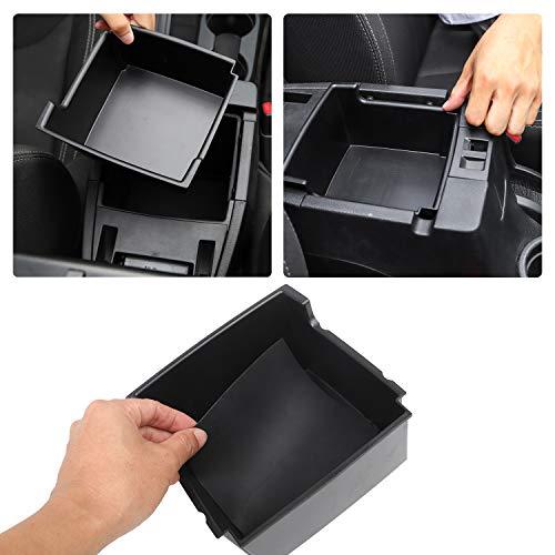 JK Center Console Organizer Tray, Armrest Storage Box for 2011-2018 Jeep Wrangler JK JKU Sport Sahara Rubicon