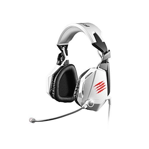 Mad Catz F.R.E.Q. 7 - Auriculares Gaming de diadema cerrados (con micrófono, control remoto integrado), color blanco