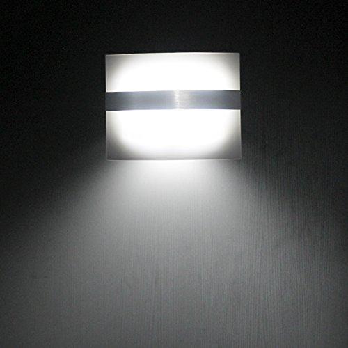 ELINKUME Applique Murale LED Lampe de Mur Détecteur de Mouvement 22LM Blanc Froid Lumière de Nuit Sans Fil Lumière de Sécurité Étanche Brillant éclairage Lumière Escaliers