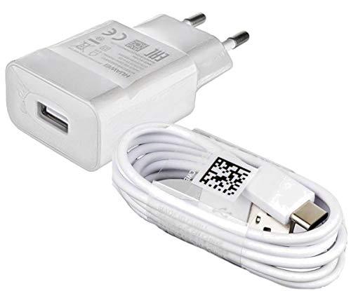 Cargador de teléfono móvil modular Huawei de 2 amperios, USB tipo C, cable de carga de datos blanco, para teléfonos móviles Huawei con puerto de carga USB tipo C