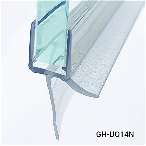 Glass House Guarnizione per cabina doccia - Guarnizione per vetro 6 mm - 8 mm Lunghezza - 100 cm, realizzata in silicone di altissima qualità resistente all'umidità e alle muffe. GH-UO14N