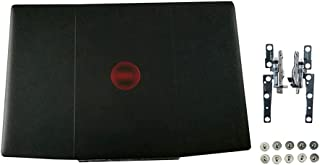 Eclass LCD Back Cover & Hinges & Screws Set Black 0YGCNV for Dell Inspiron Gaming G3 15 3500 G3 15 3590 Red Logo Top Case ...