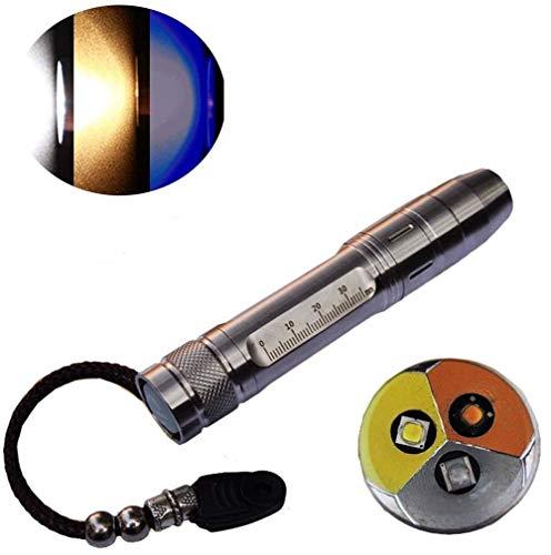 lee LED UV Lampe de poche 365nm R5 Jade Pierre précieuse de bijoux courant d'inspection lampe de poche Ultraviolet 3 en 1 lumière Chien d'urine et les taches détecteur de batterie 18650
