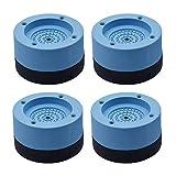 Urhause - Set di 4 piedini in gomma anti vibrazione antiscivolo per pavimenti, ammortizzanti, anti e camminate, per asciugatrice, frigorifero, tapis roulant, colore blu