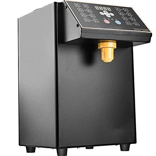 TreeSouth 8L Dispensador De Fructosa Automático Máquina 16 Teclas De Memoria Salida De Azúcar 1s Alarma Automática por Escasez De Azúcar Adecuada para Tiendas Comerciales De Té con Leche, Cafeterías
