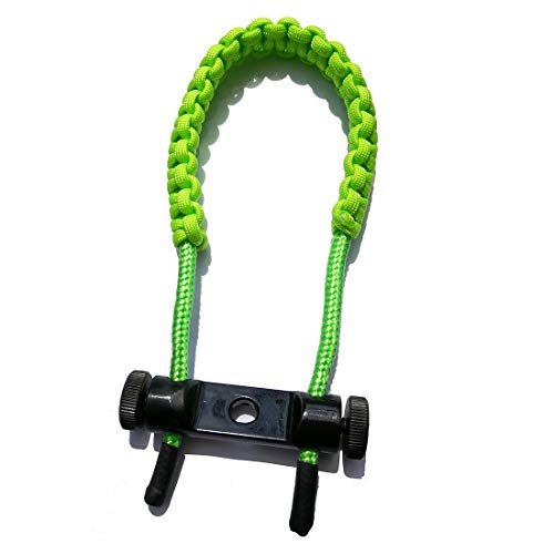 HRCHCG Archery Bow Sling Compound Bow Crossbow Wrist Sling Band Strap Hunting Braided Cord Rope Shooting Target Outdoor Accessory (Green)
