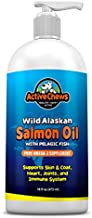 Active Chews Wild Alaskan Salmon Oil for Dogs - Natural Fish Oil for Dogs, Rich in Omega 3 for Dogs - Dog Skin and Coat Supplements, Supports Hip and Joint, Heart, Immune Health - 16 FL OZ