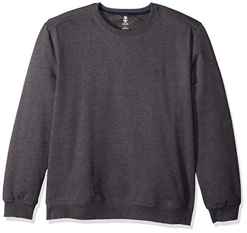 IZOD Men's Advantage Performance Crewneck Fleece Sweatshirt, ASPHALT, Medium