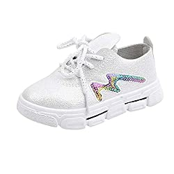 Cartoon Sequins Rabbit Flat Sneaker Shoe In White