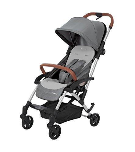 Maxi-Cosi Maxi Cosi Laika Baby-Kinderwagen, ultrakompakt und leicht, ab der Geburt, leicht faltbar, 0 Monate bis 3,5 Jahre, 0-15 kg, Nomad Grau
