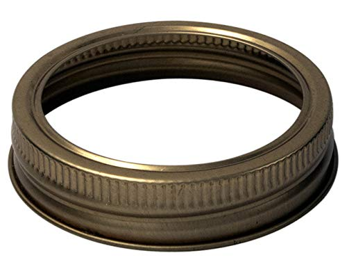 Copper Bands/Rings for Mason, Ball, Canning Jars (10 Pack, Regular Mouth)