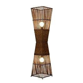 caihuashopping Lampadaire décoration for la Lecture Lampadaires – Éclairage Vie Debout rotin Salon Chambre Bureau…
