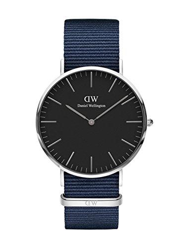 Daniel Wellington Classic Bayswater, Nachtblau/Silber Uhr, 40mm, NATO, für Herren