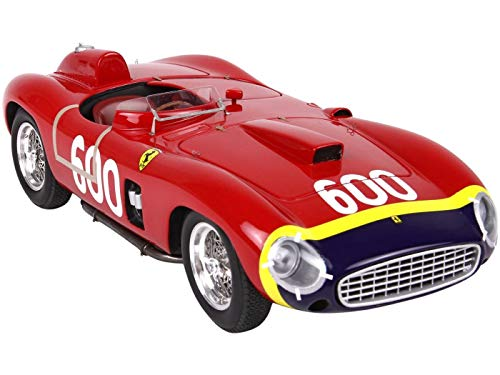Ferrari 290 MM #600 Manuel Fangio Mille Miglia (1956) with Display CASE Limited Edition to 200 Pieces Worldwide 1/18 Model Car by BBR C 1818 BV