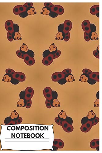 Composition Notebook: Cute Ladybug Composition Notebook/Journal for Animals Lovers to Writing (6x9 Inch.) College Ruled Lined Paper 120 Blank Pages (Red&Creme&Black&White Pattern)