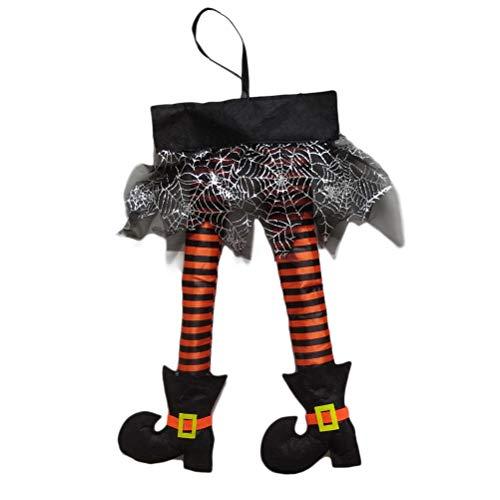 JiuRong Colgante Colgante de piernas de Bruja de Halloween para decoración de Halloween