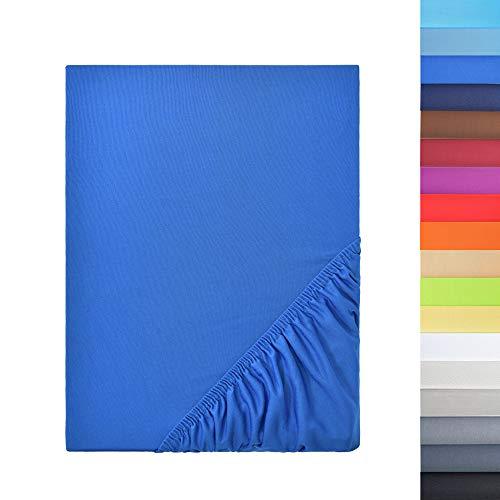 NatureMark Sonderposten!! Mikrofaser SPANNBETTLAKEN zum Sparpreis! viele Größen und Farben Markenware (140x200-160x200 cm, royal blau)