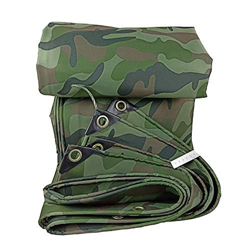 Jonist Outdoor Multipurpose Tarpaulin-Tarpaulin Camping Shelter Tent Tarp, Camouflage Waterproof, Outdoor Lightweight Rainproof Mat, 420G /M²,3X3M